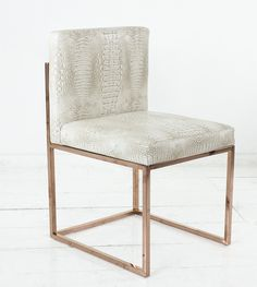 007 Dining Chair with Rose Gold Frame