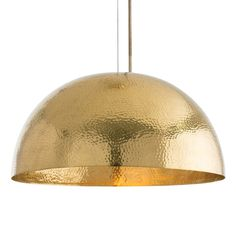Arteriors 46807 Mambo 1 Light Pendant in Polished Brass