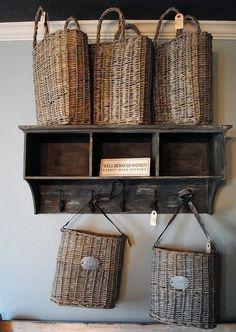 Stupendous Useful Ideas: Wicker Rattan Texture wicker wreath home. Rustic Wall Shelves, Rustic Walls, Timber Shelves, Wood Shelf, Rustic Wood, French Baskets, Wicker Furniture, Wicker Dresser, Wicker Trunk
