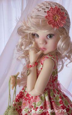 """Floral-ly Fun"" made for Kaye Wiggs Talyssa & Mei Mei MSD BJD dolls.   by Cindy Rice Designs"