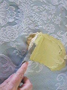 Diy Faux Lace Texture Painted Furniture Plaster Crafts - Diy Faux Lace Texture Painted Front Doors Stencil Painting Painting Pressed Wood Lace Stencil Lace Painting Painting Tips Stenciling Furniture Makeover Lace Painted Furniture S Jaw Dropping Decor # Plaster Crafts, Plaster Art, Decorative Plaster, Decoupage Furniture, Hand Painted Furniture, Lace Stencil, Diy And Crafts, Arts And Crafts, Paperclay