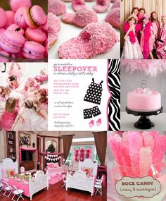 Slumber Party Ideas - Slumber party inspiration board