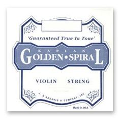 D'Addario Kaplan Golden Spiral Solo 4/4 Violin E String - Heavy Gauge - Steel - Loop-End by D'Addario. $3.55. D'Addario Kaplan Golden Spiral strings are recommended for professional and serious musicians. This steel E string in combination with the other Golden Spiral strings produces the warmest sound, traditional to stringed instrument playing.. Save 57%!