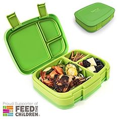 Buy Bentgo Fresh (Green) – Leak-Proof & Versatile Bento-Style Lunch Box – Ideal for Portion-Control and Balanced Eating On-the-Go – BPA-Free and Food-Safe Materials Gourmet Recipes, Snack Recipes, Healthy Recipes, Snacks, Leak Proof Lunch Box, Portion Control, Fresh Green, Food Print, Safe Food