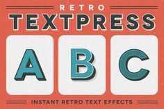 Check out Retro Textpress – Illustrator Styles by Sivioco on Creative Market