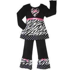 New Girls Boutique Zebra Polka Dot Outfit Clothing « Clothing Impulse