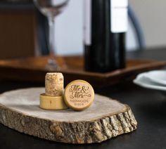 Set of 12 Mr. and Mrs. Engraved Wine Stopper  by AllFavorShop