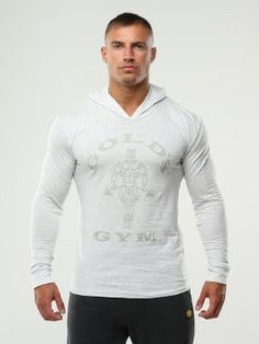 Golds gym muscle joe tri-blend hoodie white
