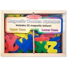 Melissa & Doug Magnetic Wooden Alphabet - babyearth.com