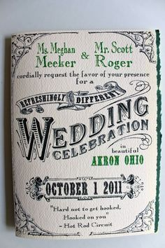These invitations designed by the groom walk the line between quirky and romantic perfectly!
