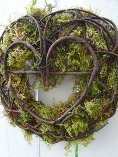 Items similar to Heart Wreath Wedding Wreath Valentine Wreath Saint Patrick's Day Moss Wreath Woodland Wedding Door Wreath Rustic Wedding on Etsy Moss Wreath, Twig Wreath, Heart Wreath, Wedding Door Wreaths, Wedding Doors, Purple Wreath, Green Wreath, White Wreath, St Patrick's Day Decorations
