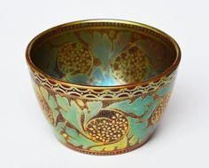 Seltene Jugendstil Keramik Schale Eosin Zsolnay Pécs Fünfkirchen Ungarn um 1900