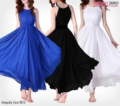 Get Your Hands On Some #Amazing #Outfits ! #Shop #Online For These #Blue, #Black And #White #Best #Selling #sexy #dresses and #Outfits  http://www.uniquelyzero.com/apparel/2in1-persian-long-skirt-chiffon-dress