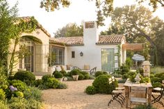 Patina Farm + Spanish colonial + Back patio Spanish Style Homes, Spanish House, Spanish Colonial, Spanish Bungalow, Spanish Revival, Outdoor Rooms, Outdoor Living, Patina Farm, Mediterranean Architecture