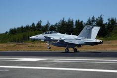 An EA-18G Growler assigned to VAQ 129 lands at NAS Whidbey Island's Ault Field. (U.S. Navy photo by Mass Communication Specialist 2nd Class John Hetherington/Released)