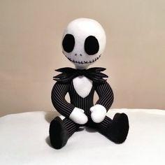 Handmade Plush Doll Jack Skellington Made to order by MoodyVoodies on Etsy, $69.99 #jackskellington #timburton #nightmarebeforechristmas