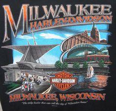 Milwaukee Wisconsin Harley Davidson Graphic Tee L Black 105 Years Sailboat #HarleyDavidson #GraphicTee
