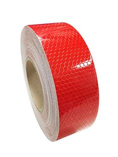 """NEON ORANGE  Reflective   Conspicuity  Tape 2/"""" x 100 feet no lines solid pattern"""