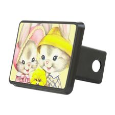 Bunny Girl + Boy (Yellow) Hitch Cover