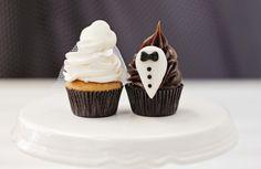 Cupcakes especiais para casamento remetem ao traje dos noivos - Bem Paraná