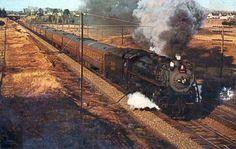 L233 1956 B&M RR BOSTON & MAINE RAILROAD LEAVING DOVER NH