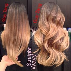 Ombre straight or wavy? #ombre #straighthair #curls #hairstyle #ombrehair long ombre hair straight, guy tang balayage ombre, wavi ombr, ombre straight hair, ombr long, long hair, beauti, long straight ombre hair, straight ombre hairstyles
