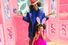 #CelebBabies : Blue Ivy's Photoshopped Tea Party   Another day another day when I wake up and I'm not Beyonce or her daughter Blue Ivy.....  Blue Ivy celebrated the arrival a spring with an adorable tea party looking to cute in her hot pink Oscar de la Renta dress and bunny ears. While Auntie Solange cradles some fake bunny and the whole Carter house is transformed in to an easter egg all by the magic of photo shop. Beyonce posted these adorable family photos on her website with these…