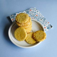 Biscuits sablés au gingembre confit Pancakes, Breakfast, Food, Spritz Cookies, Sweet Recipes, Kitchens, Morning Coffee, Eten, Meals