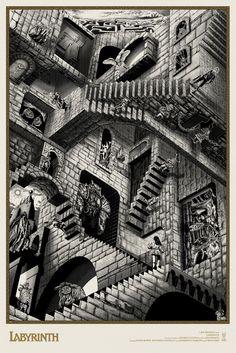 Labyrinth Ivory Bowie Alternative Movie Poster Chris Skinner S/N NT Mondo David Bowie Labyrinth, Labyrinth Film, Goblin King, Labyrinth Tattoo, Drawn Art, Alternative Movie Posters, New Print, Art Plastique, Cool Art