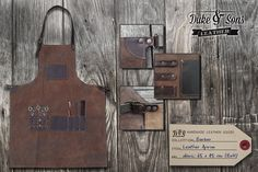 Barber Apron leather handmade by DukeAndSonsLeather on Etsy