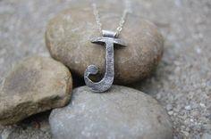 Custom Fingerprint Initial Necklace by FlirtandFlutter | Hatch.co