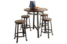 Conway Furniture is proud to bring you our selection of Bistro Tables like this Counter Height Table from Ashley Furniture and more! Counter Height Table Sets, Pub Table Sets, Outside Furniture, Furniture Decor, Dinette Sets, Pub Set, Table And Chairs, Bistro Tables, Design