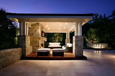 outdoor living room with cover