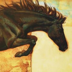 Horse Over Crow   S. C. Versillee Small Paintings, Large Painting, Animal Paintings, Figure Painting, Appaloosa, Equine Art, Crow, Giclee Print, Art Decor