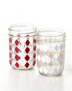 DIY Gingham Mason Jars