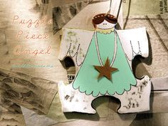 Puzzle Piece Angel Ornaments