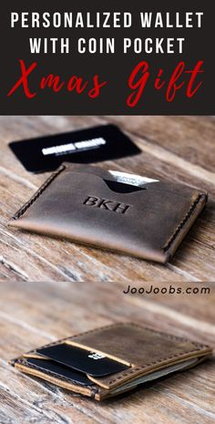Xmas Gift Ideas for Him Christmas Gifts For Boyfriend, Boyfriend Gifts, Wallet With Coin Pocket, Rustic Gifts, Handmade Leather Wallet, Initials Logo, Unique Wedding Gifts, Minimalist Wallet, Card Wallet