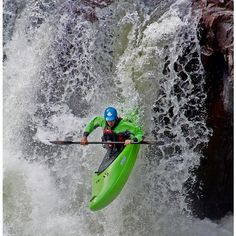 whitewater kayaking, just like this guy…maybe I have a death wish, but totally worth it.