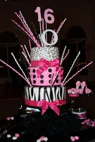 Sweet 16 party cake