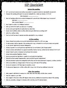 IEP Checklist FREEBIE