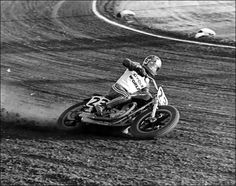 Flat Track Motorcycle Racing Lay it down clown Flat Track Motorcycle, Flat Track Racing, Dirt Racing, Motorcycle Art, Flat Tracker, Retro Photography, Dirtbikes, Dirt Track, Classic Bikes
