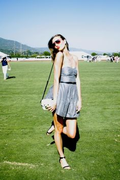 Karlie Kloss at celebrity polo match