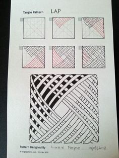 Patrones básicos de Zentangle, paso a paso 3 Zentangle basis patronen, stap voor stap 3 Patrones básicos de Zentangle, paso a paso 3 Doodles Zentangles, Tangle Doodle, Zentangle Drawings, Zentangle Patterns, Doodle Drawings, Doodle Art, Patterns To Draw, Zen Doodle Patterns, Doodle Borders