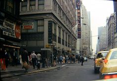 Broadway near 34th Street around 1970. Gimbels department store on the left, and the McAlpin hotel on the right.  Gimbels is long gone.