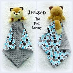 18e37757cd6 Jackson the Fox Lovey by lovablekreations