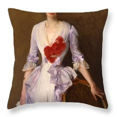 Mrs Archibald Douglas Dick Throw Pillow by John Singer Sargent