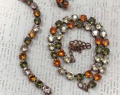 8mm Tangerine Swarovski Crystal Elements Leverback Earrings set in Antique Copper