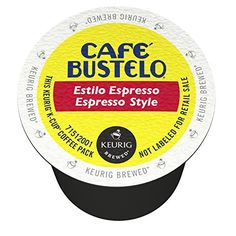 Cafe Bustelo K-Cup Packs, Espresso Style, 72 Count - http://thecoffeepod.biz/cafe-bustelo-k-cup-packs-espresso-style-72-count/