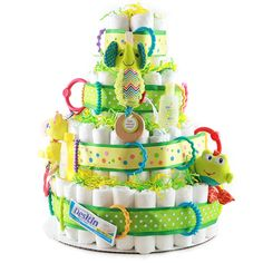 Diaper cakes are great for baby showers, centerpieces, and of course a great gift for the new mom