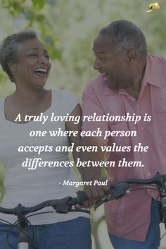 """A truly loving relationship is one where each person accepts and even values the difference between them."" - Margaret Paul  #QOTD #inspiration #InspirationalQuotes #motivationalquotes http://theshiftnetwork.com/?utm_source=pinterest&utm_medium=social&utm_campaign=quote"